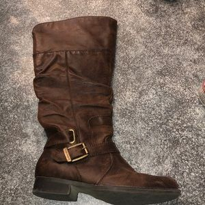 Other - girls brown leather boots